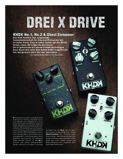 Gitarre & Bass KHDK No.1, No.2 & Ghoul Screamer, OD-Pedale