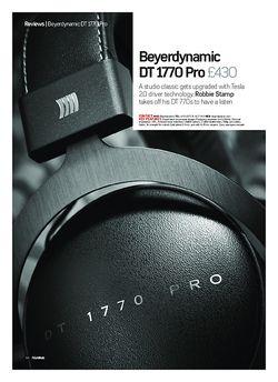 Future Music Beyerdynamic DT 1770 Pro
