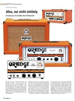 Guitar Gear Amp Special - Orange AMP Roundup