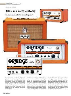 Guitar Gear Amp Special - Orange AMP Roundup