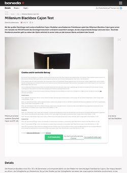 Bonedo.de Millenium Blackbox Cajon