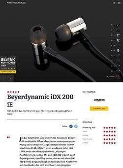 Kopfhoerer.de Beyerdynamic iDX 200 iE