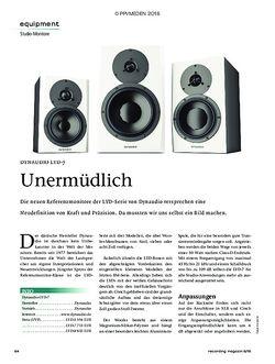 Recording Magazin DYNAUDIO LYD-7