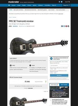 MusicRadar.com PRS SE Tremonti