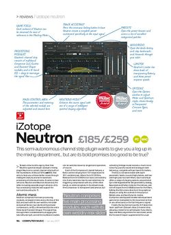 Computer Music iZotope Neutron