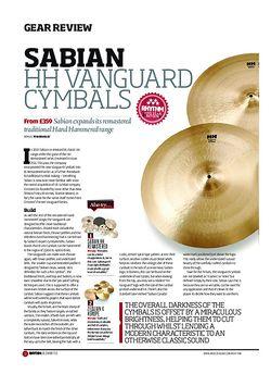 Rhythm Sabian HH Vanguard Cymbals