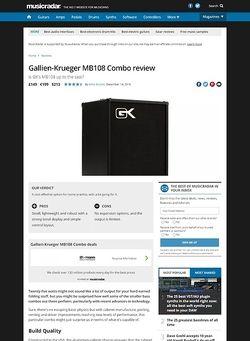 MusicRadar.com Gallien-Krueger MB108 Combo
