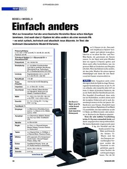 Tastenwelt Test: Bose L1 Model II - Einfach anders