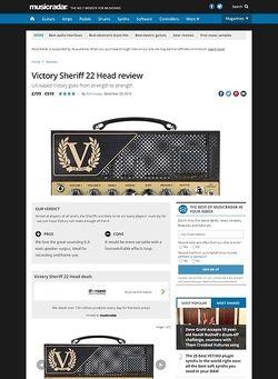 MusicRadar.com Victory Sheriff 22 Head
