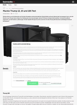 Bonedo.de Mackie Thump 12, 15 und 18S