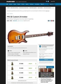 MusicRadar.com PRS SE Custom 24