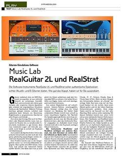 KEYS Test: Music Lab RealGuitar 2L und RealStrat
