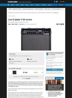 MusicRadar.com Line 6 Spider V 60