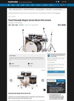 MusicRadar.com Pearl Decade Maple Series Drum Kit