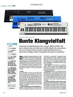tastenwelt Yamaha MX61 BK/BU/WH