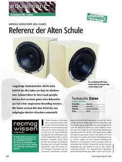 Recording Magazin Bridge Monitore Mix Cubes