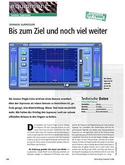 Recording Magazin Sonnox Supresser - Bis zum Ziel und noch viel weiter