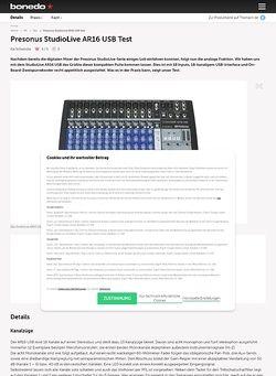 Bonedo.de Presonus StudioLive AR16 USB