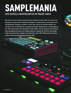 Keyboards VIER AKTUELLE GROOVESAMPLER IM PRAXIS-CHECK