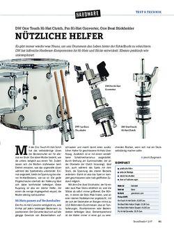 DrumHeads DW One Touch Hi-Hat Clutch, Pro Hi-Hat Converter, One Beat Stickholder