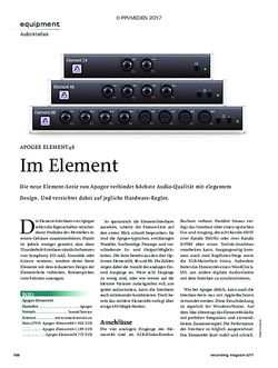 Recording Magazin APOGEE ELEMENT