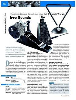 DrumHeads Instrumente & Technik: Meinl Foot Cabasa, Russ Miller Multi Bell & Liquid Triangle
