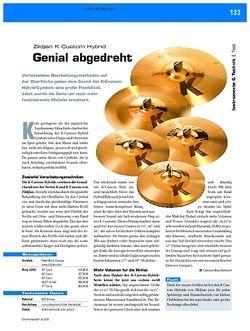 DrumHeads Instrumente & Technik: Zildjian K Custom Hybrid