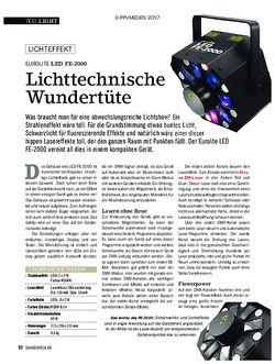 SOUNDCHECK EUROLITE LED FE-2000