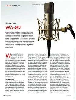 KEYS Warm Audio WA-87
