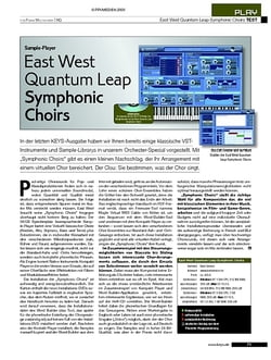 KEYS Test: East West Quantum Leap Symphonic Choirs