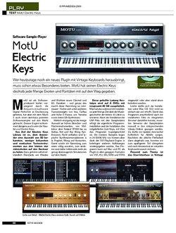 KEYS Test: MotU Electric Keys