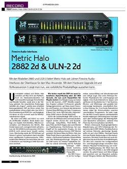 KEYS Metric Halo 2882 2d & ULN-2 2d