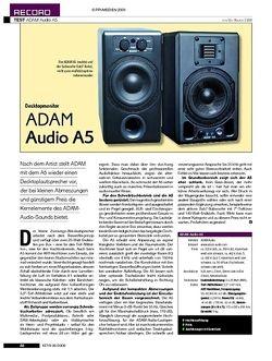 KEYS Adam Audio A5