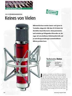 Recording Magazin Avant Electronics CV-12 - Keines von Vielen