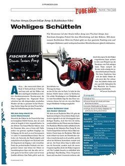 DrumHeads Instrumente & Technik: Fischer Amps Drum InEar Amp & Buttkicker Mini
