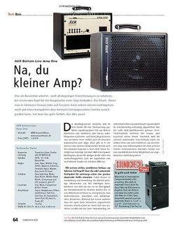 Soundcheck Test: AER Bottom Line Amp One