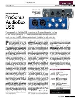 KEYS Presonus Audiobox USB