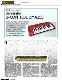 KEYS Behringer U-Control UMA25S