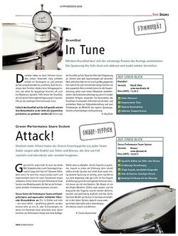 Soundcheck Test: Drum Dial – In Tune & Groover Performance Snare System – Attack!