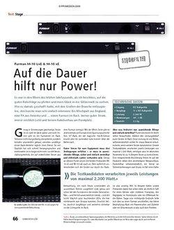 Soundcheck Test: Furman M-10 LxE & M-10 xE – Auf die Dauer hilft nur Power!