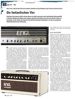 Guitar Engl Classic Tube 50 E355 C / Ritchie Blackmore Signature 100 E650 / Powerball E645 / SE Special Edition E670 EL34