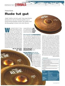 DrumHeads Instrumente & Technik: Paiste Rude