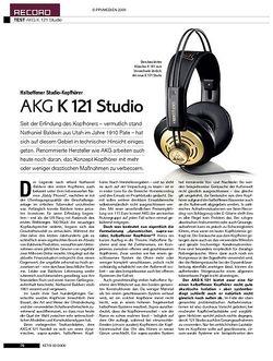 KEYS AKG K 121 Studio