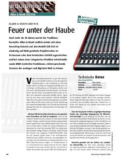 Recording Magazin Allen & Heath ZED R16 - Feuer unter der Haube