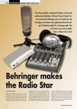 Professional Audio Behringer makes the Radio Star: Podcast Studio FW