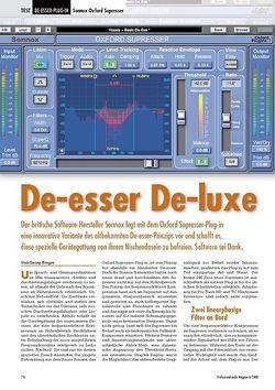 Professional Audio De-esser De-luxe: Sonnox Oxford Supresser