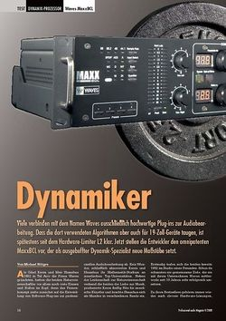 Professional Audio Dynamiker: Waves MaxxBCL