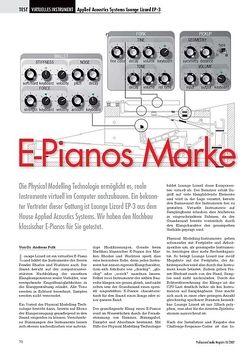 Professional Audio E-Pianos Marke Eigenbau Applied Acoustics Systems Lounge Lizard EP-3