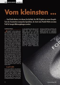 Professional Audio Vom kleinsten... Focal CMS 50
