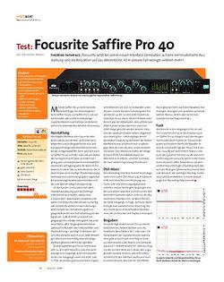 Beat Test: Focusrite Saffire Pro 40